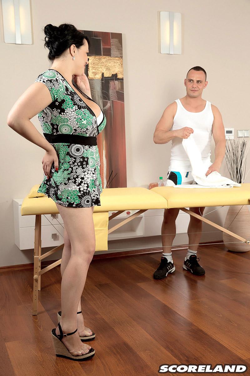 Boob massaging wife sexually